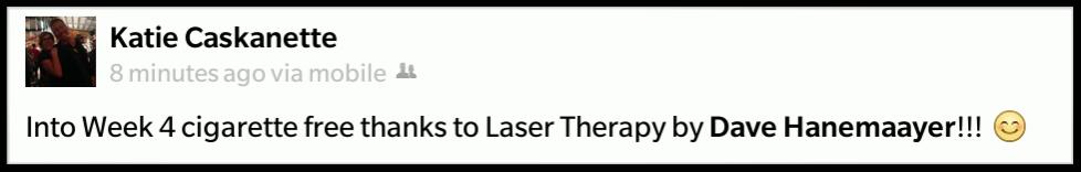 Laser quit smoking testimonial.